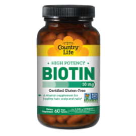 Country-Life,High Potency Biotin 10 mg (60-Vegicaps)