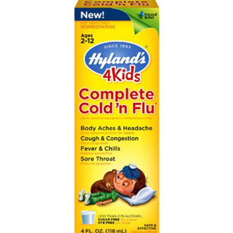 Hyland's 4 Kids Complete Cold 'n Flu – Liquid Formula