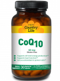 Country-Life,CoEnzyme Q10 – 60 mg (Vegetarian Capsules)
