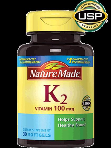 Vitamin K2 100 mcg Liquid Softgels