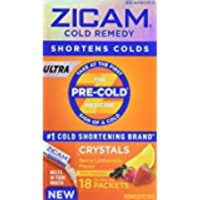 Zicam Ultra Cold Remedy Berry Lemonade Crystals, 18 Count