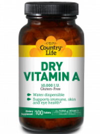 Country-Life, Vitamin A 10,000 I.U. - Dry