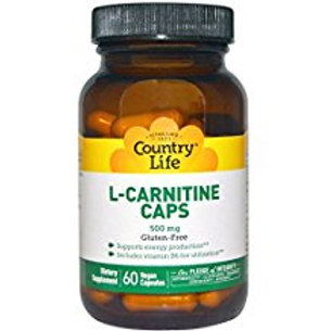 Country-Life, L-CARNITINE CAPS 500 MG with Vitamin B-6