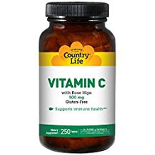 Country-Life,Vitamin-C 500 mg (250-Tablet)