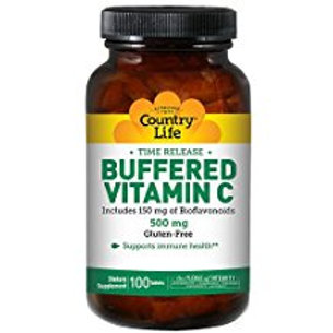 Country-Life, Buffered Vitamin C with Bioflavonoids 500mg