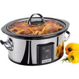 Crock-Pot 6.5-Quart Programmable Slow Cooker, Stainless Steel