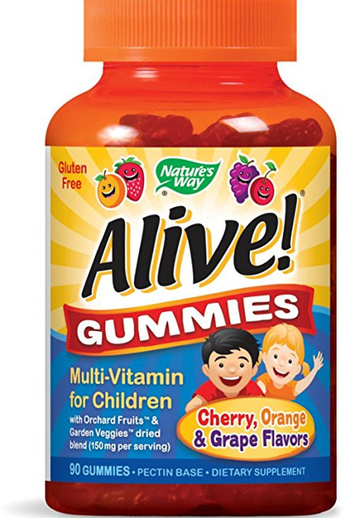 Nature's Way Alive! Multi-Vitamin Gummies with 8 B-Vitamins, Great Fruit Flavors