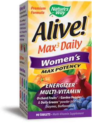 Nature's Way Alive! Premium Formula Max3 Daily Women's Multi-Vitamin, 90 Tablets