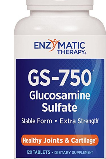 Enzymatic Therapy GS-750 Glucosamine Sulfate Tablets, 120 Count