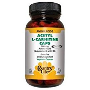 Country-Life, ACETYL L-CARNITINE 500 MG with Vitamin B-6