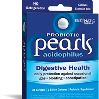 Enzymatic Therapy Probiotic Pearl Acidophilus (formerly Acidophilus Pearls), 30C
