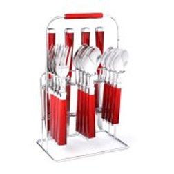 Cambridge Silversmith Cambridge Temptation Red 16-piece Flatware Set