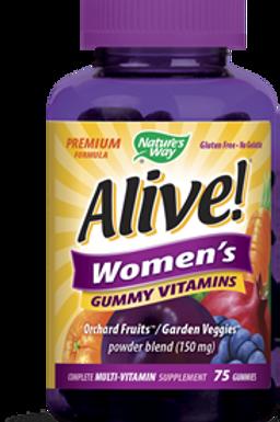 Nature's Way Alive Women's Energy Gummy Multi-Vitamins, 75 Count