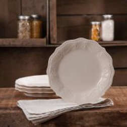 The Pioneer Woman Paige Transparent Glaze 4-Pack Salad Plates