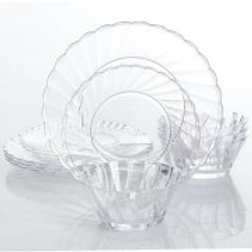 Gibson Home Jeanne 12-Piece Acrylic Dinnerware Set