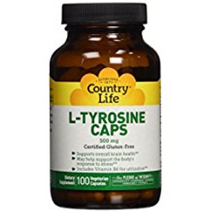 Country-Life, L-TYROSINE 500 MG with Vitamin B-6