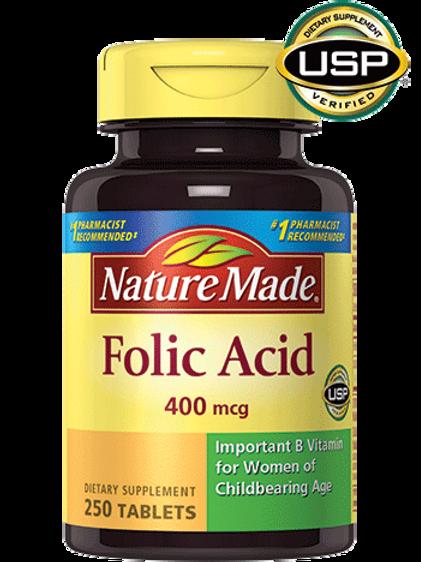 Folic Acid 400 mcg Tablets