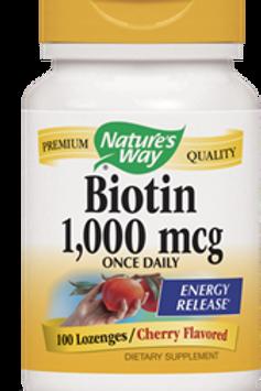 Nature's Way Biotin Lozenges, 100 Count