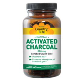 Country-Life,Activated Charcoal (40-Capsule)