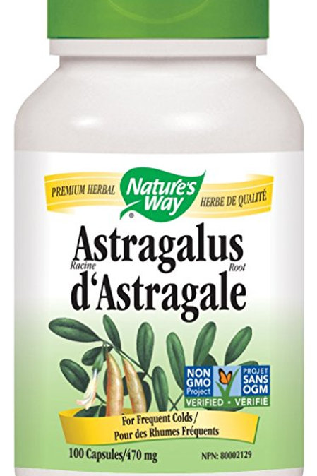 Nature's Way Astragalus Root Capsules, 470 mg, 100-Count