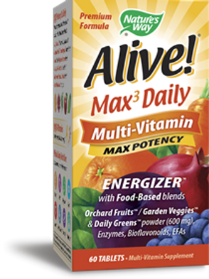 Nature's Way Alive! Max Potency Daily Multivitamin 60-Tablets