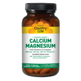 Country-Life,Calcium Magnesium with Vitamin D Complex (120-Vegicaps)