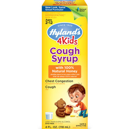 Hyland's 4 Kids Cough Syrup with 100% Natural Honey