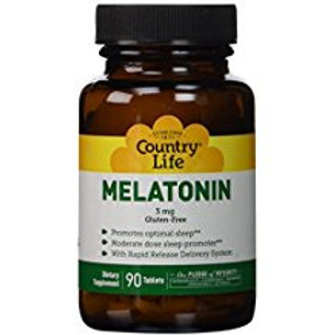 Country-Life,Melatonin 3 mg Rapid Release (90-Tablet)