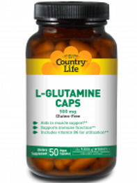 Country-Life, L-GLUTAMINE CAPS 500 MG with Vitamin B-6