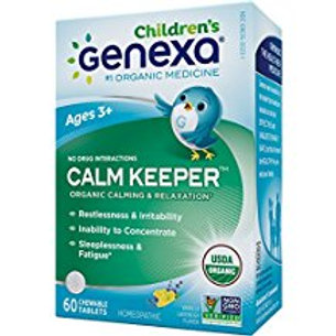 Genexa Homeopathic Calming Aid Tablets for Children: Natural, Certified Organic,