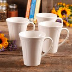 Pioneer Woman Paige 4-Piece Transparent Glaze Mug Set