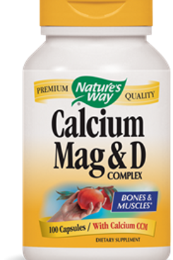 Nature's Way Calcium, Magnesium and Vitamin D, 100 Capsules