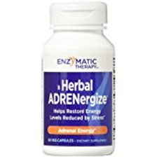 Enzymatic Therapy Herbal Adrenergize Vegetarian Capsules, 60 Count