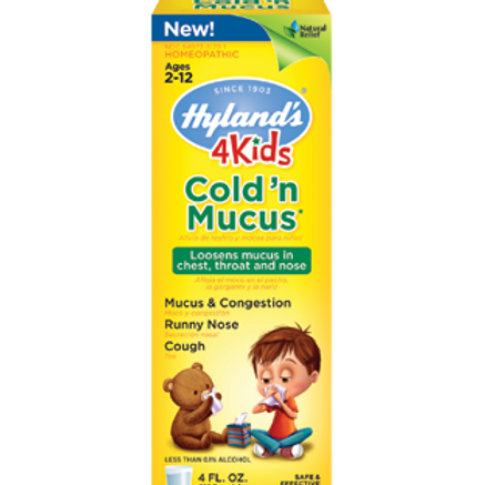 Hyland's 4 Kids Cold 'n Mucus