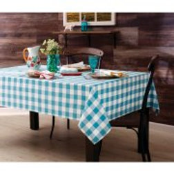 The Pioneer Woman Charming Check Tablecloth, Teal