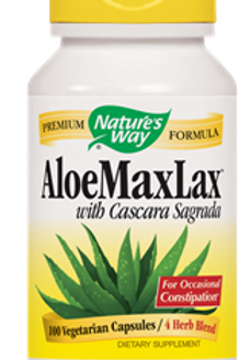 Nature's Way Aloemaxlax With Cascara Sagrada Vegetarian Capsules, 100 Count