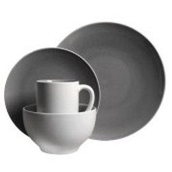 Gibson Serenity Gray 16pc Dinnerware Set- Gray