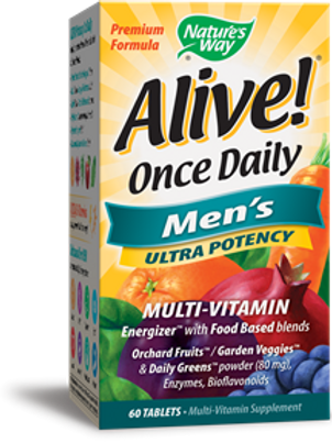 Nature's Way Alive Once Daily Men's Ultra Potency Tablets, 60 Count