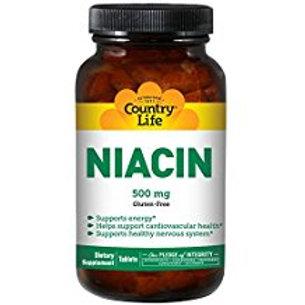 Country-Life,Niacin 500 mg (90-Tablet)