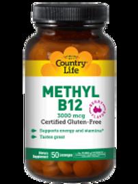 Country-Life,Methyl B-12 Lozenges 3000 mcg (50-Lozenges)