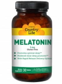 Country-Life, Melatonin 3 mg Rapid Release (30-Tablet)