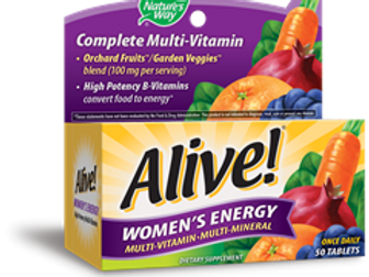 Nature's Way Alive! Women's Energy Tablets, 50 Count