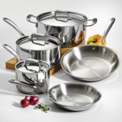 Tramontina 8-Piece 18/10 Stainless Steel Tri-Ply Clad Cookware Set