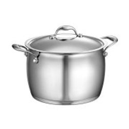 TRAMONTINA 80102/010DS Domus 8-qt Covered Stock Pot