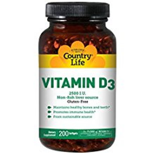 Country-Life,Vitamin D3 2,500 I.U. (200-Softgel)