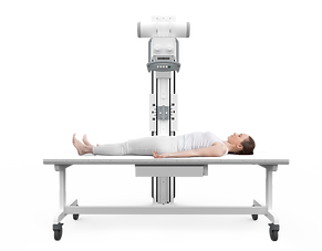 X-ray table straight arm