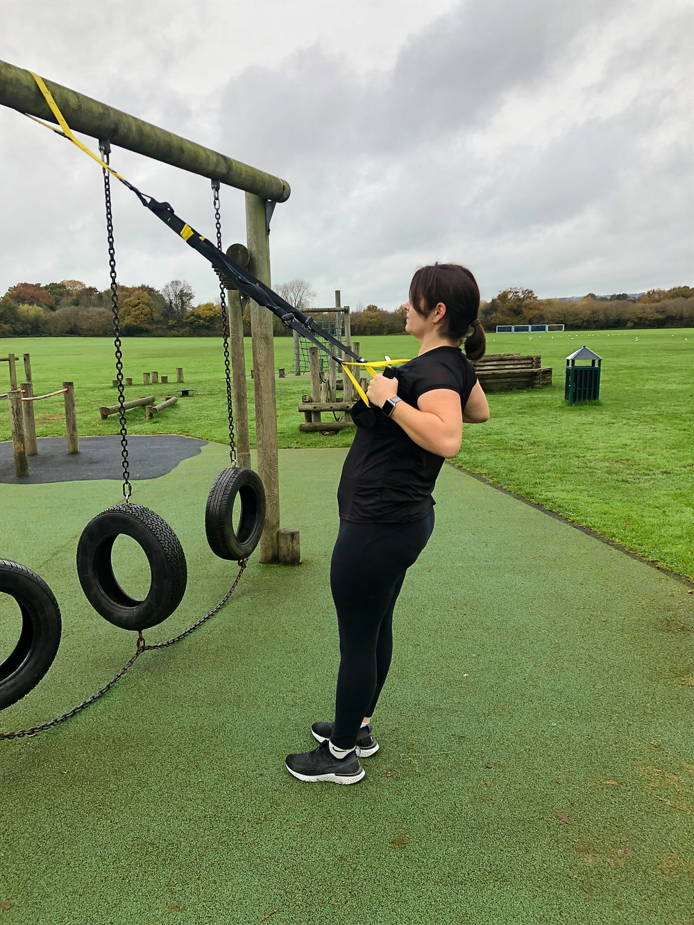 TRX Low Row In Petersfield Park