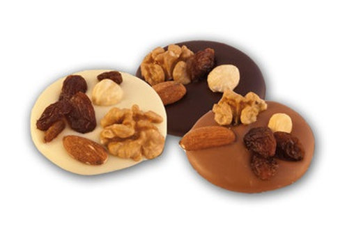 Power Chocolate with mixed Nuts and Raisins
