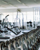gym sanitized by UV lite and steam