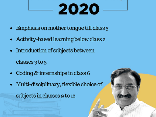 Revolution in Education Sector: New Education Policy 2020